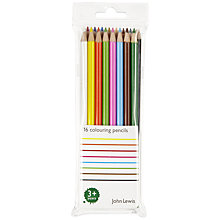 Buy John Lewis Colouring Pencils, Pack of 16 Online at johnlewis.com