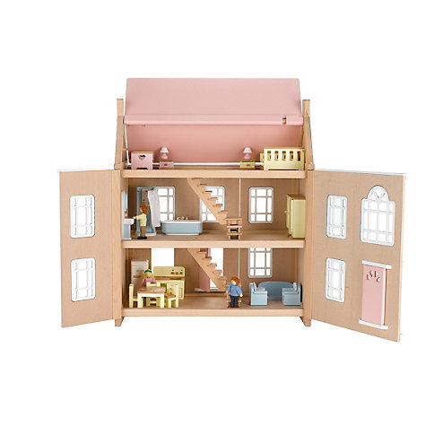 Buy John Lewis Wooden Doll's House, Leckford House Online at johnlewis.com