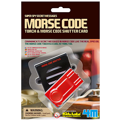 Buy Great Gizmos Morse Code Online at johnlewis.com