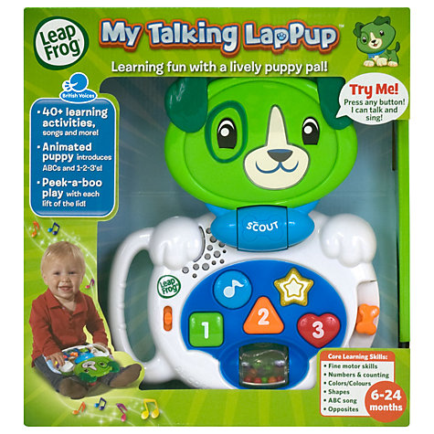 Buy LeapFrog My Talking LapPup, Scout Online at johnlewis.com
