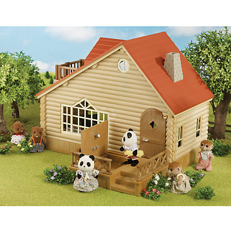 Buy Sylvanian Log Cabin Set Online at johnlewis.com