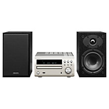 Buy Denon D-M39 DAB/FM/CD Micro System, Silver Online at johnlewis.com