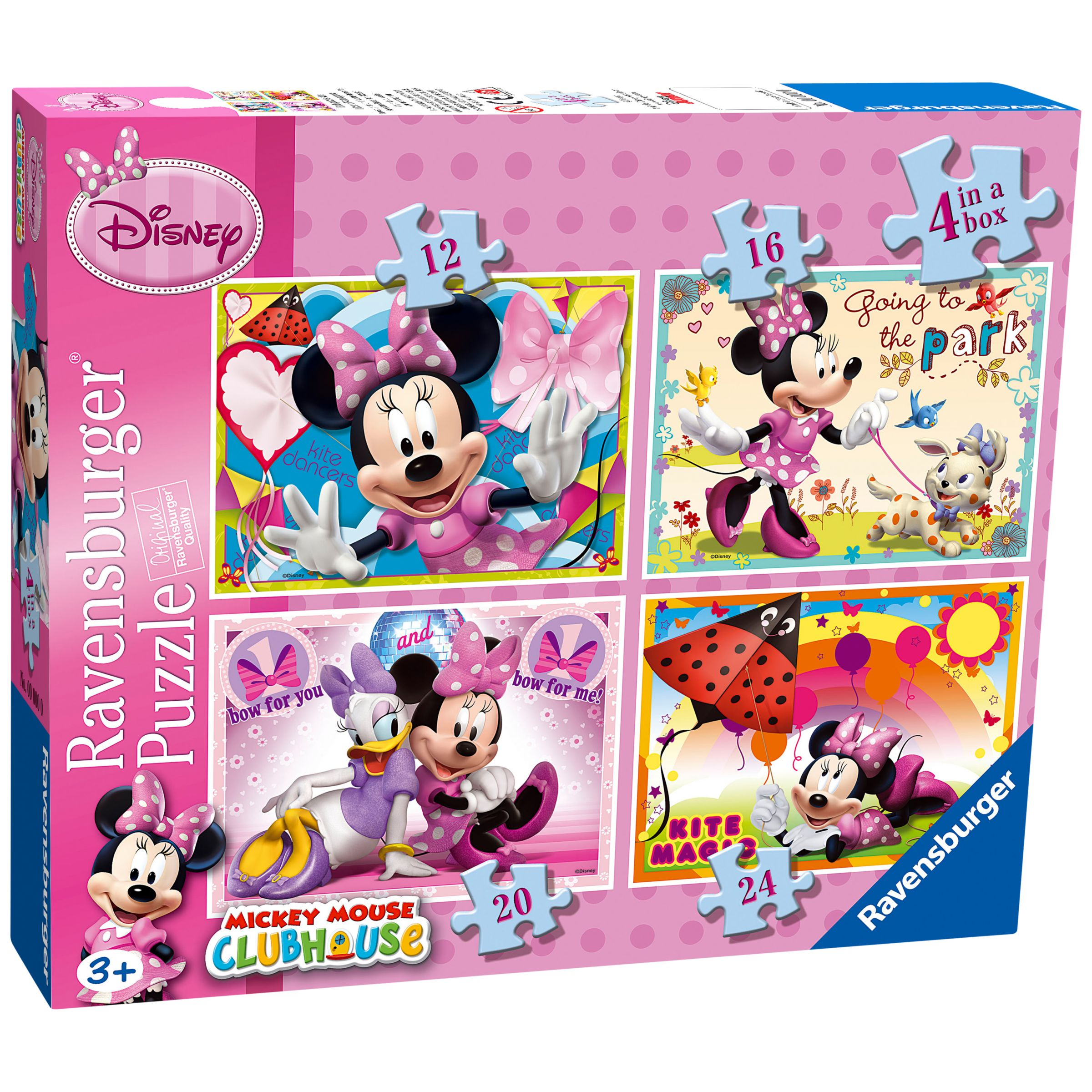 Disney Minnie Mouse 4 In A Box Puzzle Set