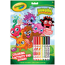 Buy Crayola Colouring Book, Moshi Monsters Online at johnlewis.com
