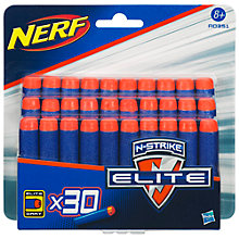 Buy Nerf Elite Ammo Refill, Pack of 30 Online at johnlewis.com
