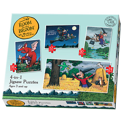 Buy Room On The Broom Jigsaw Puzzles, Box of 4 Online at johnlewis.com