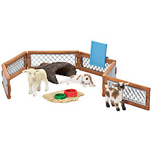 Buy Schleich Children's Petting Zoo Scenery Online at johnlewis.com