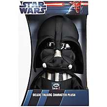 "Buy Star Wars 15"" Talking Darth Vader Plush Toy Online at johnlewis.com"