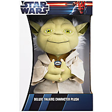"Buy Star Wars 15"" Talking Yoda Plush Toy Online at johnlewis.com"