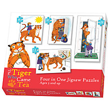 Buy The Tiger Who Came For Tea 4-In-1 Puzzle Set Online at johnlewis.com