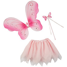 Buy John Lewis Dressing Up Tutu, Butterfly Wings and Wand Set Online at johnlewis.com