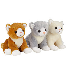 Buy John Lewis Sitting Cat Plush Toy, Assorted Online at johnlewis.com