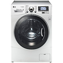 Buy LG F14A7FDS TrueSteam™ Washing Machine, 9kg Load, A+++ Energy Rating, 1400rpm Spin, White Online at johnlewis.com