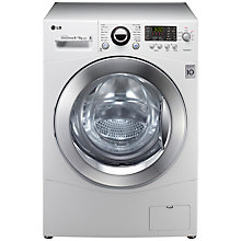 Buy LG F1480YD Washer Dryer, 8kg Wash/6kg Dry Load, B Energy Rating, 1400rpm Spin, White Online at johnlewis.com