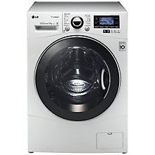 Buy LG F1495BDS TrueSteam™ Washing Machine, 12kg Load, A+++ Energy Rating, 1400rpm Spin, White Online at johnlewis.com