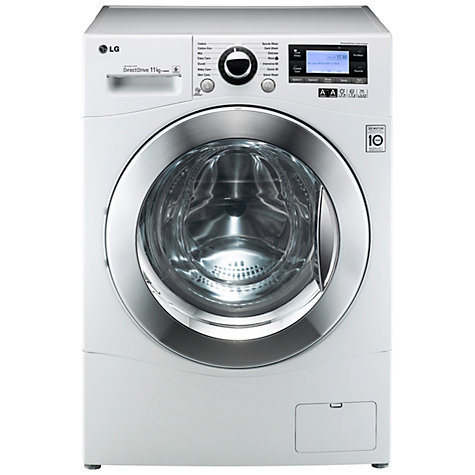 Buy LG F1495KD Washing Machine, 11kg Load, A+++ Energy Rating, 1400rpm Spin, White Online at johnlewis.com
