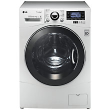 Buy LG F1495KDS TrueSteam™ Washing Machine, 11kg Load, A+++ Energy Rating, 1400rpm Spin, White Online at johnlewis.com