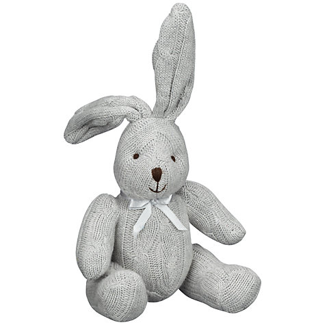 Buy John Lewis Cable Knit Rabbit, Grey Online at johnlewis.com