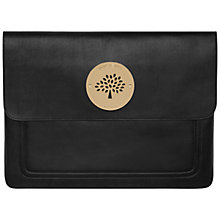 "Buy Mulberry Daria 13.3"" Macbook Pro Laptop Sleeve, Black Online at johnlewis.com"