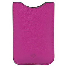 Buy Mulberry Leather Cover for iPhone 4S, Pink Online at johnlewis.com