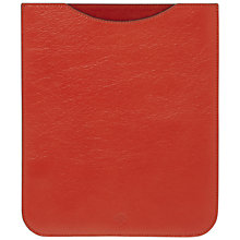 Buy Mulberry Simple iPad Sleeve, Orange Online at johnlewis.com