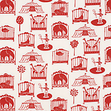 Buy John Lewis Circus PVC Cut Length Tablecloth, Red Online at johnlewis.com