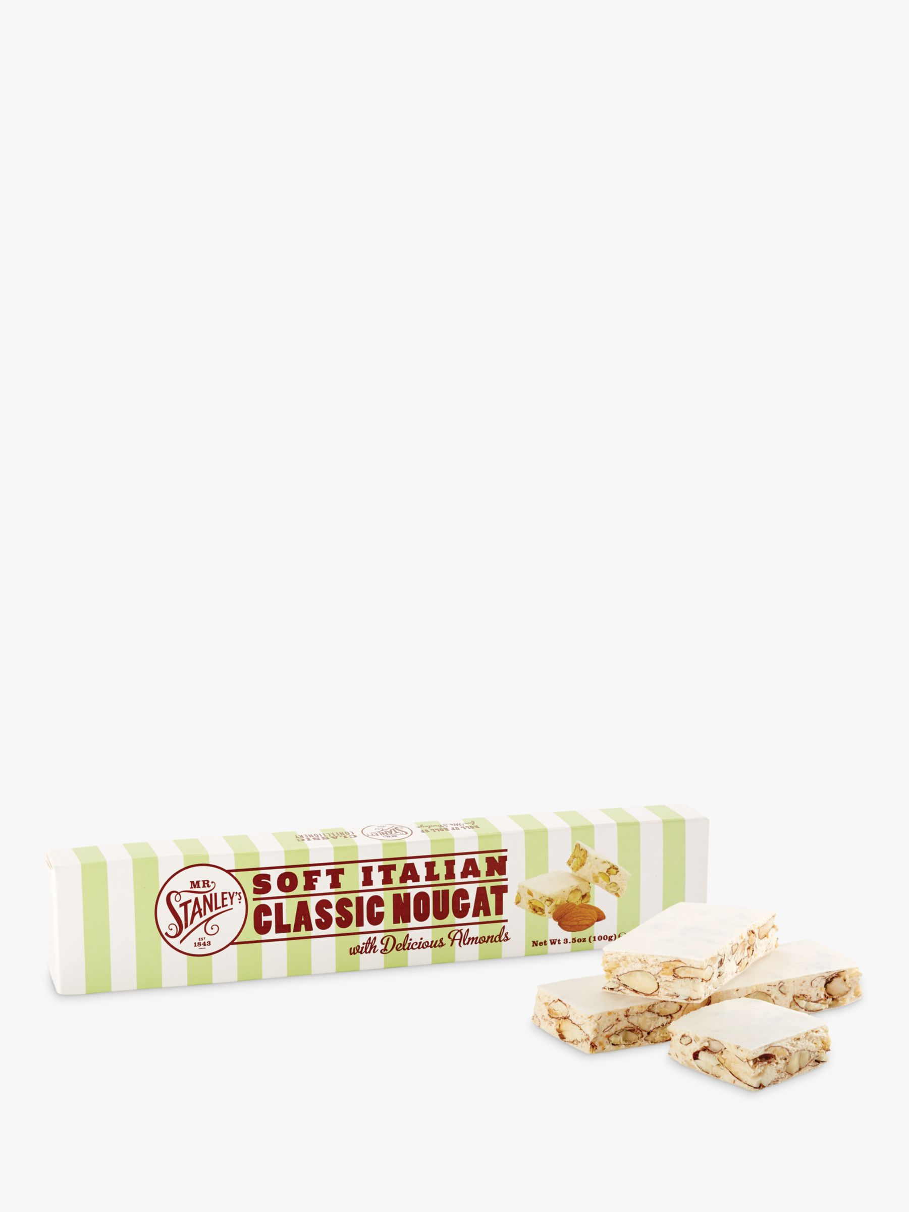 Mr Stanley's Mr. Stanley's Almond Nougat Bar, 100g