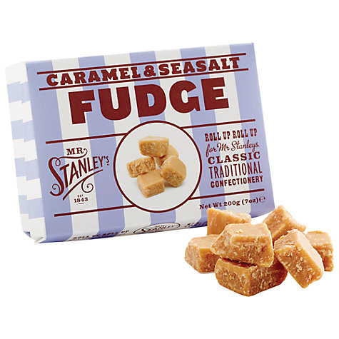 Buy Mr. Stanleys Caramel and Sea Salt Fudge, 200g Online at johnlewis.com