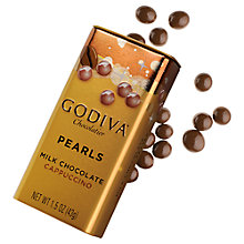 Buy Godiva Cappuccino Milk Chocolate Pearls, 43g Online at johnlewis.com