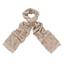 Buy John Lewis Wool Knitted Snowflake Tech Scarf Online at johnlewis.com
