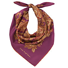 Buy Lauren by Ralph Lauren Andrea Paisley Silk Twill Square Scarf Online at johnlewis.com