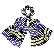 Buy John Lewis Viscose Graded Stripe Scarf Online at johnlewis.com