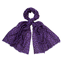 Buy John Lewis Leopard Print Wool Scarf Online at johnlewis.com