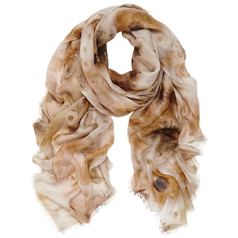 Buy Mulberry Floating Flowers Square Print Wrap Scarf Online at johnlewis.com