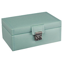 Buy LC Designs Pretty Jewellery Box, Duck Egg Blue, Medium Online at johnlewis.com