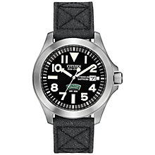 Buy Citizen BN0110-06E Men's Royal Marines Commando Super Tough Fabric Strap Watch, Black Online at johnlewis.com