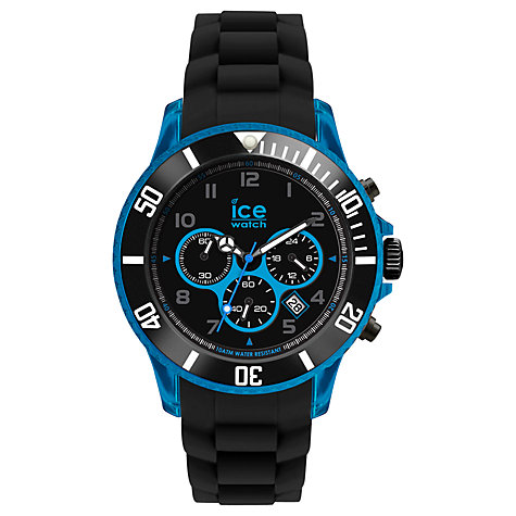 Buy Ice-Watch Ice-Chrono Men's Chronograph Silicone Strap Watch Online at johnlewis.com