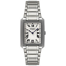 Buy Rotary GB02605/01 Men's Rectangle Dial Bracelet Watch, Silver Online at johnlewis.com