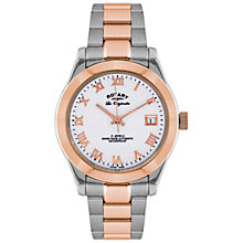 Buy Rotary GB08152/01 Men's Les Originales Verbier Automatic Two-Tone Watch, Silver / Rose Gold Online at johnlewis.com