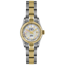 Buy Rotary LB08151/41 Women's Les Originales Diamond Set Dial Watch, Silver/Gold Online at johnlewis.com