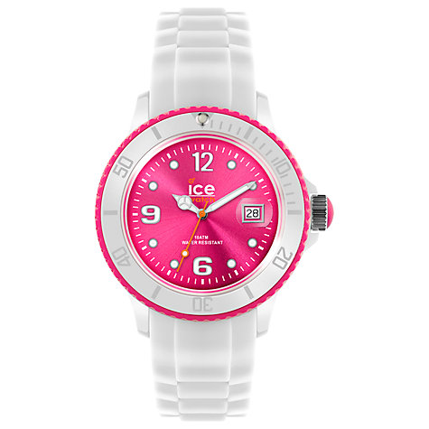 Buy Ice-Watch Ice White Unisex Silicone Bracelet Watch Online at johnlewis.com