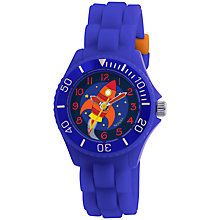 Buy Tikkers TK0045 Children's Rocket Rubber Strap Watch, Blue Online at johnlewis.com
