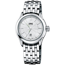 Buy Oris 0156176044031MB Culture Artelier Women's Bracelet Watch, Silver Online at johnlewis.com