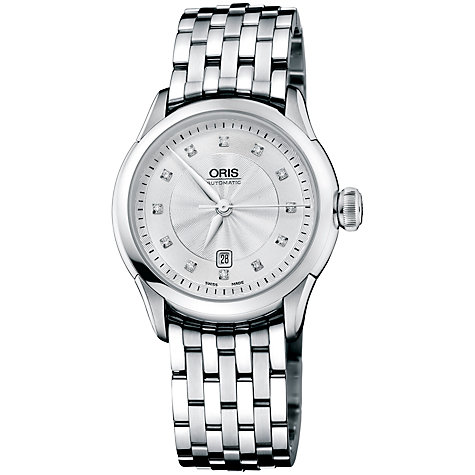 Buy Oris Women's Artelier Date Diamonds Bracelet Watch Online at johnlewis.com