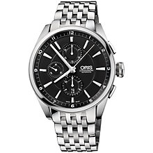 Buy Oris 0167476444054MB Artix Men's Chronograph Bracelet Watch, Black Online at johnlewis.com