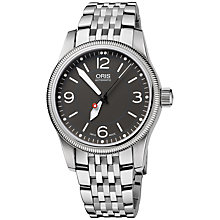 Buy Oris 0173376494063MB Big Crown Women's Black Dial Bracelet Watch, Silver/Black Online at johnlewis.com
