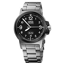 Buy Oris 01 735 7641 4364-07 8 22 03 Men's BC3 Bracelet Strap Watch, Silver/Black Online at johnlewis.com