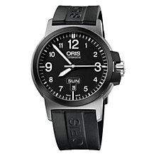 Buy Oris 0173576414364RS BC3 Men's Rubber Strap Watch, Black Online at johnlewis.com