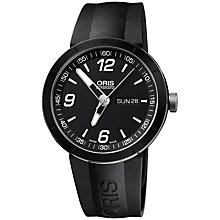 Buy Oris 0173576514174RS TT1 Rubber Strap Watch, Black Online at johnlewis.com