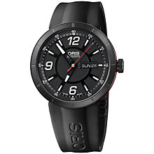 Buy Oris 0173576514764RS TT1 Men's Rubber Strap Watch, Black Online at johnlewis.com